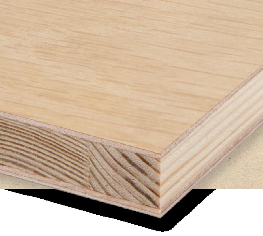 Veneered blockboard