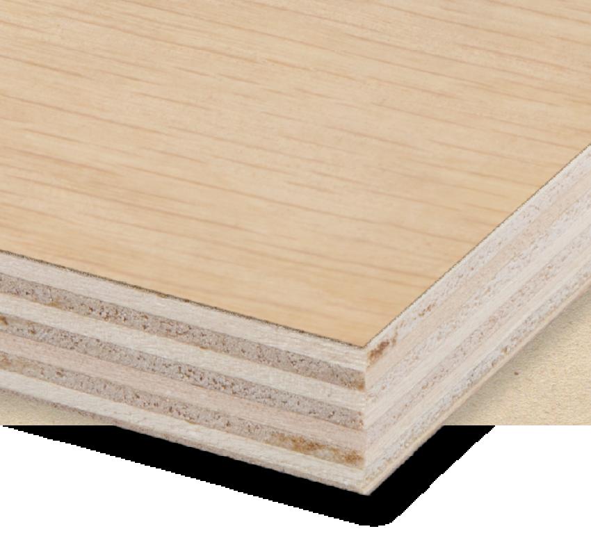 Veneered poplar plywood